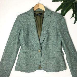 New📍Talbots Green Tweed One Button Blazer